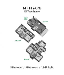 14 FIFTY-ONE 5 X 5 E1 TOWNHOME
