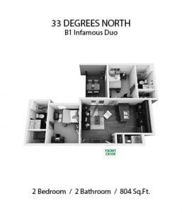 33 DEGREES NORTH 2 X 2 B1