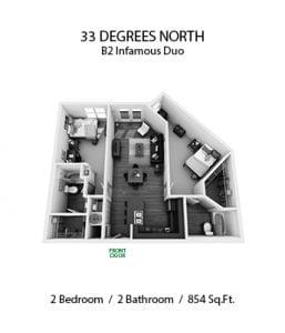33 DEGREES NORTH 2 X 2 B2