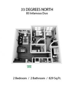 33 DEGREES NORTH 2 X 2 B3