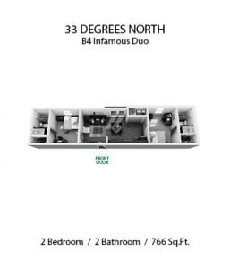 33 DEGREES NORTH 2 X 2 B4