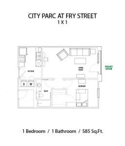 CITY PARC AT FRY STREET 1 BED 1 BATH