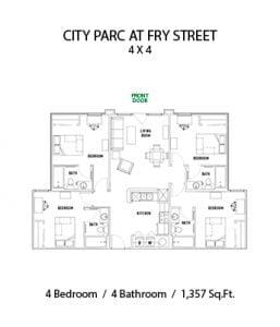 CITY PARC AT FRY STREET 4 BED 4 BATH