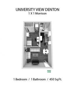 UNIVERSITY VIEW DENTON 1 X 1 MORRISON